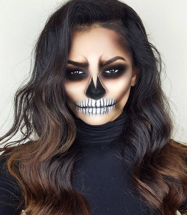 maquillage halloween facile squelette