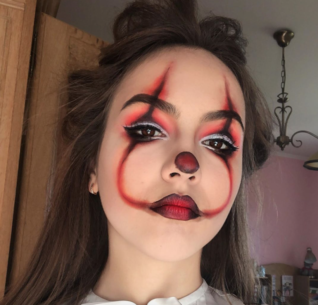 maquillage halloween facile clown qui fait peur