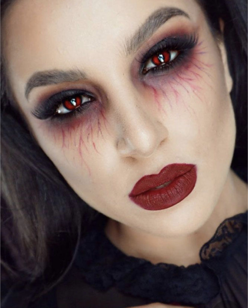 maquillage halloween vampire